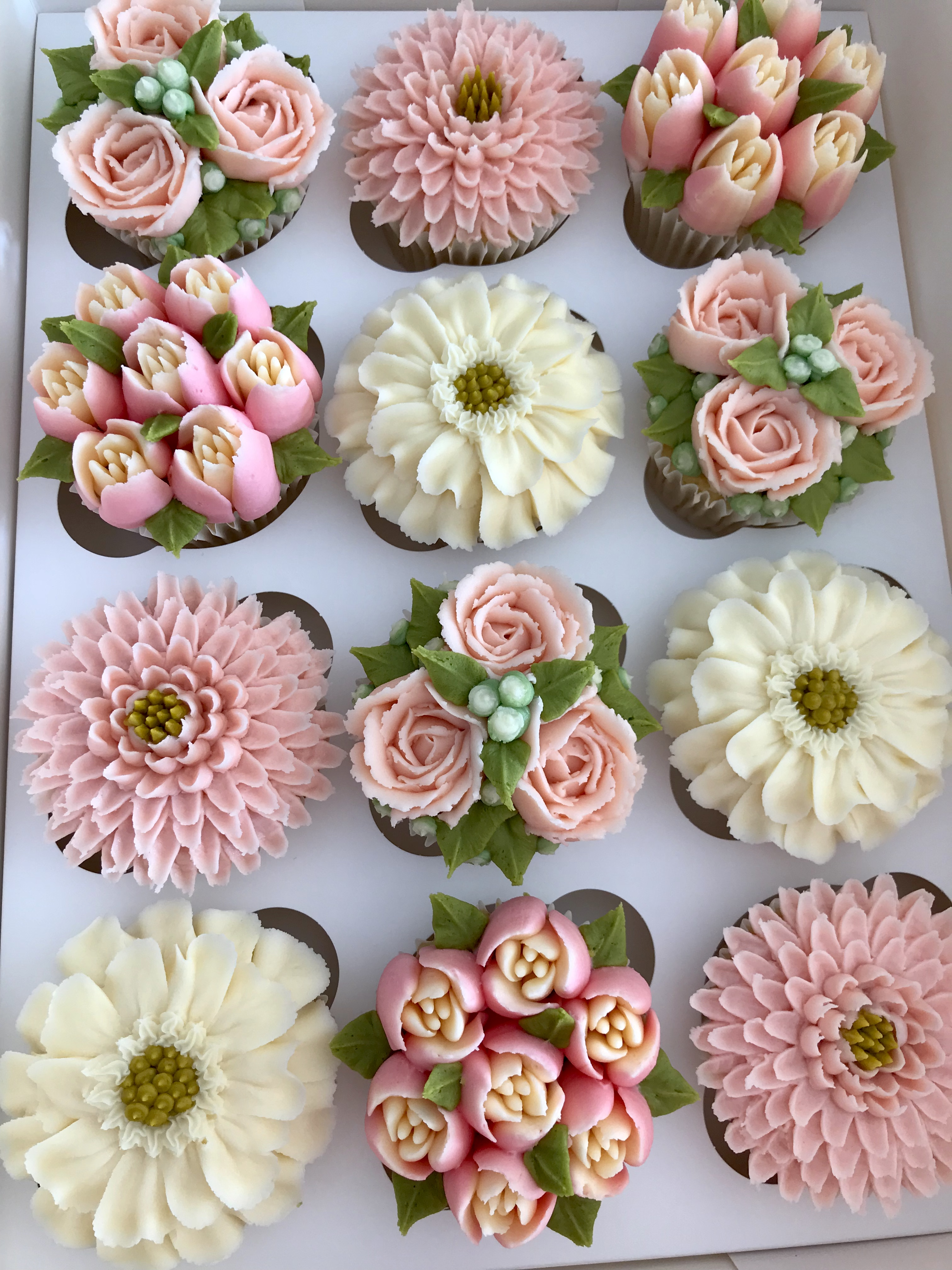 Kerry S Bouqcakes Gallery Boxed Floral Cupcakes