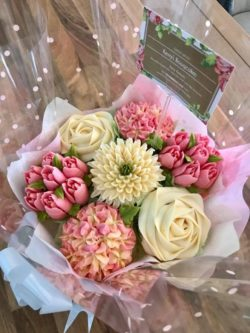Beautiful pink and cream bouquet