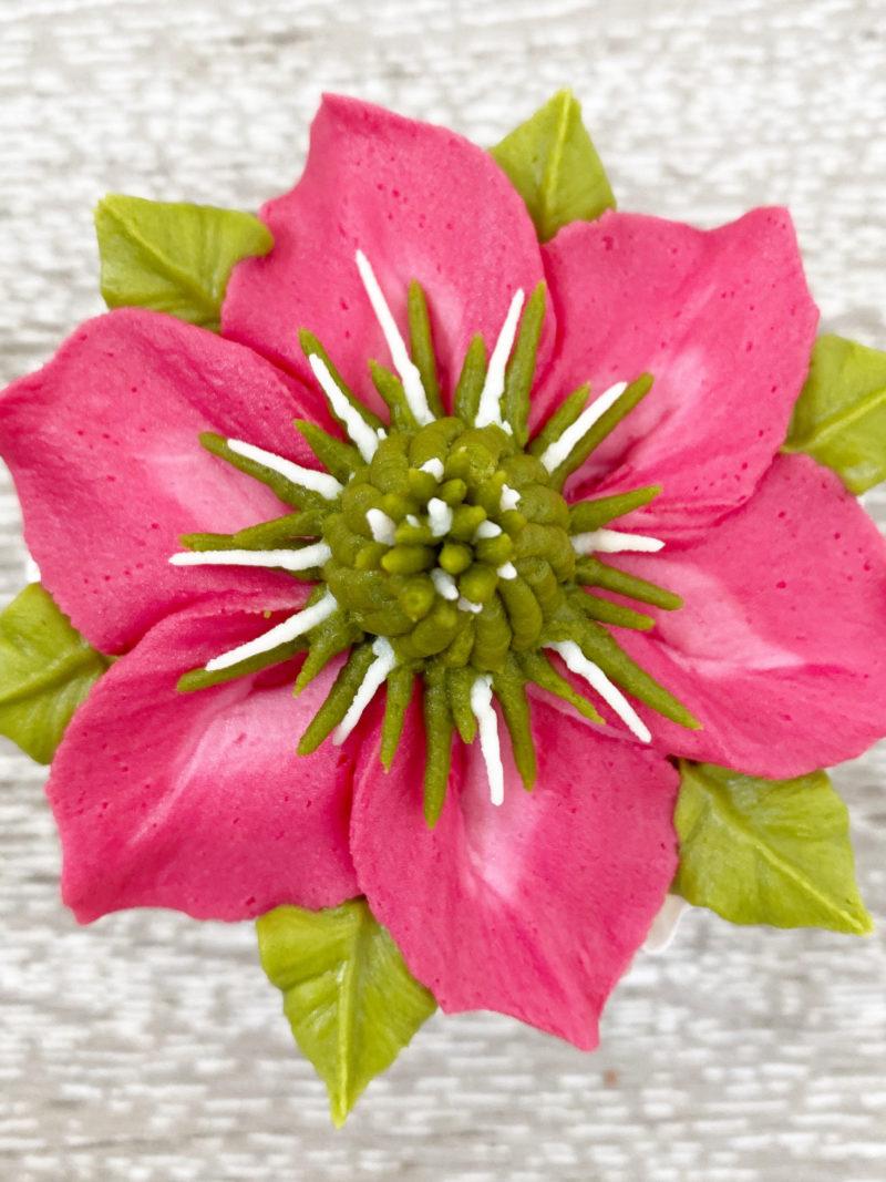 Clematis Flower Cupcake